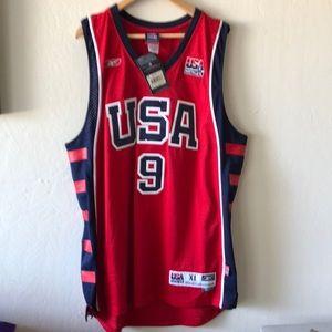 Olympic USA lebron James swing man jersey sz xl